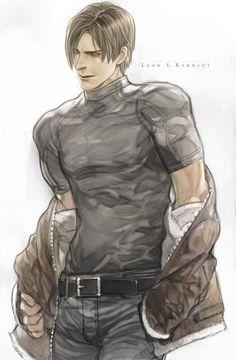 Resident Evil Anime, Resident Evil Girl, Leon S Kennedy, Video Game Characters, Cool Cartoons, Game Art, Anime Guys, Character Art, Pink