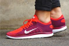 NIKE FREE 4.0 FLYKNIT (BRIGHT CRIMSON/UNIVERSITY RED) | Sneaker Freaker