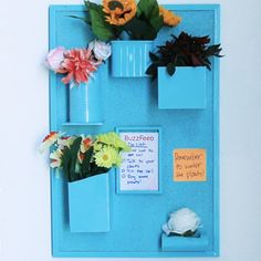 How To Recycle Material Into A Wall Organizer