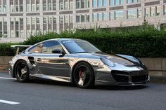 One of a kind Porsche Turbo 997 in CHROME from Japan! Comes decked out with a carbon fiber wing and a Carbon fiber face 20″ Forgiato Palaro wheels.