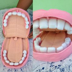 Use egg cartons as teeth. Can also be used for dental hygiene lesson. Health Activities, Science Activities For Kids, Science Fair Projects, Science Experiments Kids, Science Education, Dental Public Health, Human Body Science, Dental World, Dental Kids