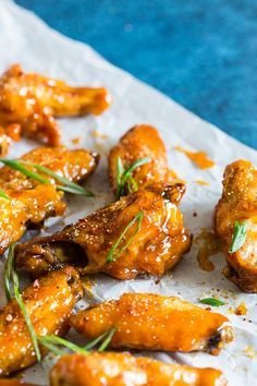 These pineapple mango habanero chicken wings are the perfect summertime appetizer or easy dinner! They're a delicious mix of sweet and spicy and can be made in your oven or the grill. It's time to give into your chicken wing cravings! Chicken Wing Sauces, Cooking Chicken Wings, Chicken Wing Recipes, Mango Habanero Sauce, Habanero Recipes, Mango Habanero Wings Recipe, Asian Turkey Meatballs, Roasted Pineapple, Mango Chicken