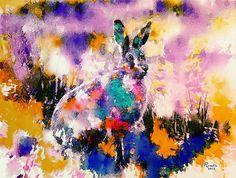 abstract bunny