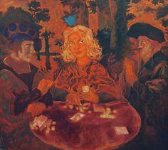 "Yury Ermolenko (Юрий Ермоленко) ""Alice and The Card Players"" (""ALICE NEW!"" project) 2005, acrylic on canvas 150x170 cm. #YuryErmolenko #юрийермоленко #ЮрийЕрмоленко #живопись #yuryermolenko #acrylic #picture #painting #art #fineart #contemporaryart #modernart #inspiration #amazing #sexy #wonderland #hot #colorful #texture #RapanStudio #exhibition #psychedelic #metaphysics #cовременноеискусство #mystery #картина #artwork #выставка #alice #fairytale #dream #sensual #fantasy #AliceInWonderland…"