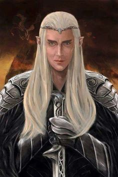 """""""You are more worthy to wear the armour of elf-princes than many that have looked more comely in it."""" ― Thranduil to Bilbo, The Hobbit, A Thief in the Night  Thranduil - That's What I'm Tolkien About  More @ http://groups.google.com/group/FantasyMagie & http://groups.yahoo.com/group/fantasy_forum   Like us pls! http://www.facebook.com/ComicsFantasy & http://www.facebook.com/groups/ArtandStuff"""