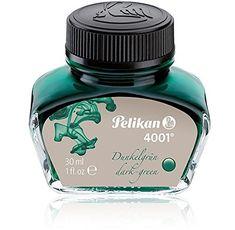 Pelikan 4001 Bottled Ink for Fountain Pens, Dark Green, 30ml, 1 Each (300056)