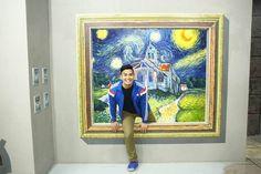 Le muséeArt In Island installé à Manille aux Philippines,proposeune expérience interactive grâce à des peintures en 3D, des anamorphoses et autres i