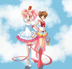 Card Captor Chibiusa and Sailor Sakura by ~ElynGontier on deviantART