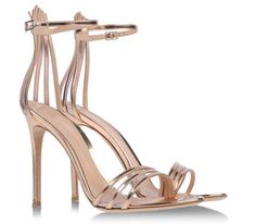 Gianvito Rossi gold strappy sandals >> Shoeperwoman