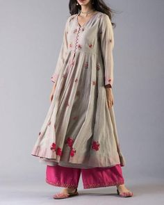 Indian Pakistani Traditional Embroidered Kurta with Lovely Pink Sharara Bollywood Style Indian Dress