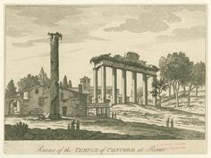 Ruins of the Temple of Concord at Rome. From New York Public Library Digital Collections.