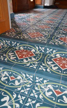 carrelage ciment d cor bleu royal format carreau 20x20xm carrelages du marais p riode bleue. Black Bedroom Furniture Sets. Home Design Ideas