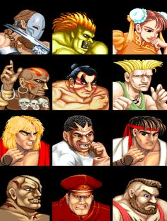 Street Fighter todos los personajes de la primera generacion...
