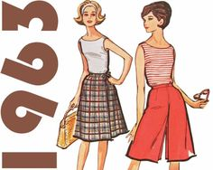Split Skirt and Sleeveless Top Summer Outfit | Sew These Inspiring Vintage Sewing Patterns For An Ultimate Throwback