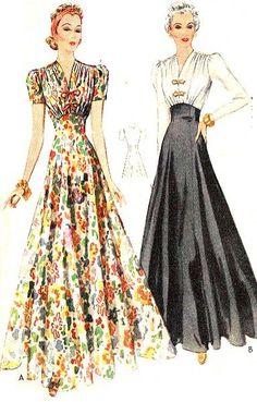 McCall 3169 | 1939 Evening Dress