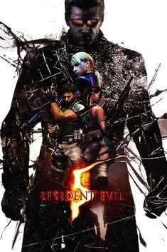 A Zombie Invasion - Cult Zombie Alien Horror Movie Resident Evil 5, Resident Evil Video Game, Leon S Kennedy, Video Game Art, Video Games, Resident Evil Collection, Albert Wesker, Evil Art, Evil World