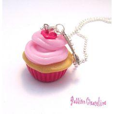 collier cupcake en pâte polymère (fimo)