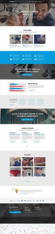 Template 55096 - Plumbing Supplies  Responsive Website Template