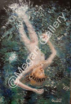ΚΑΛΛΙΤΕΧΝΗΣ:ΤΣΙΑΡΟΣ ΓΙΩΡΓΟΣ ΔΙΑΣΤΑΣΕΙΣ:40X60CM ΜΙΚΤΗ ΤΕΧΝΙΚΗ TIMH:800,00 € Blue Artwork, Oil Paintings, Shades Of Blue, Fine Art, Girls, Toddler Girls, Daughters, Maids, Oil On Canvas