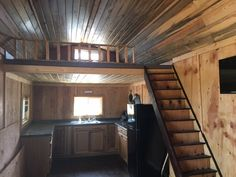 Side Lofted Barn Cabin Interior