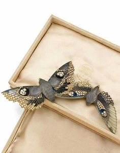 Moth brooches by Lalique, 1900, France