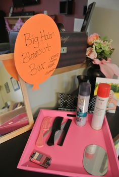 80s Blow Out bar, krimp, tease, hairspray for bachelorette party