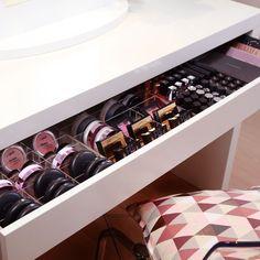 Ikea Schubladeneinsatz schminktisch aufbewahrung tidy ups acryl boxen für ikea alex
