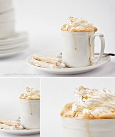 coffee eggnog latte food photography