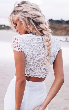 #street #style summer / white crochet