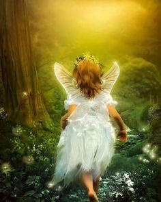 Little angel girl.