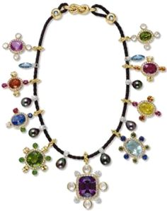 Tsar Alexander III Multi-Gem Necklace