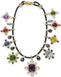 Tsar Alexander III Multi-Gem Necklace