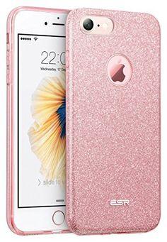 iPhone7ケース アイフォン7ケースESRRシリコン TPUソフト おしゃれ ケース バンパー 耐衝撃 キラキラ iPhone7 カバー (ローズゴールド)