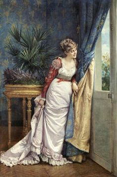 awaiting-the-visitor-by-auguste-toulmouche-1878                                                                                                                                                                                 Mais
