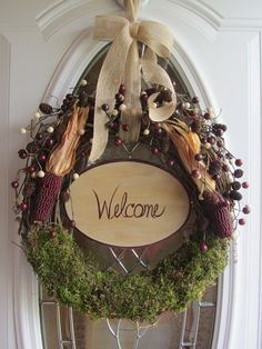 Summer Wreath Door Grapevine Country Primitive Fall