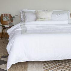 Linen Fusion Duvets and Pillowcases - White & Fog