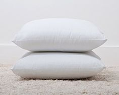 "Luxury Polycotton Bounce Back Fibre Cushion Pads (18""x 18"") (2 Pack) Made by Bedding Direct"