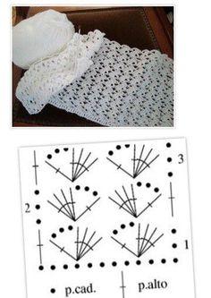 Image gallery – Page 360147301450036723 – Artofit Crochet Simple, Crochet Diy, Crochet Motifs, Crochet Diagram, Crochet Stitches Patterns, Crochet Chart, Knitting Patterns, Patron Crochet, Crochet Scarves