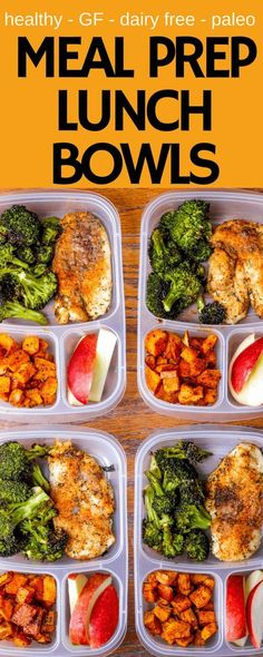 Healthy gluten-free dairy-free paleo and DELICIOUS via Cooking Spicy Chicken Meal Prep Lunch Bowls! Healthy gluten-free dairy-free paleo and DELICIOUS via Cooking Low Carb Meal, Paleo Meal Prep, Paleo Diet, Weekly Meal Prep, Diet Foods, Easy Lunch Meal Prep, Paleo Food, Keto Meal, Veggie Food
