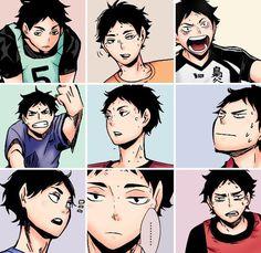 Haikyuu Akaashi- top right picture makes my life complete. Oh wait I haven't seen Oikawa with glasses yet oops Haikyuu Manga, Haikyuu Akaashi, Akaashi Keiji, Daisuga, Haikyuu Funny, Nishinoya, Kuroken, Bokuaka, Kageyama