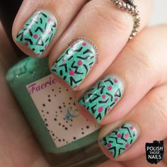 Flakie 80s // Polish Those Nails // Inspired by Dolvalol // nail art - indie polish - faeries & folklore - kbshimmer - pattern