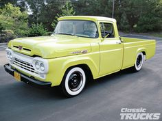 Check out this 1960 Ford that has a 292 Y-block motor. Read more only at , the official website for Chevy High Performance Magazine! Ford Pickup Trucks, Jeep Pickup, Pickup Camper, 4x4 Trucks, Lifted Trucks, Truck Drivers, Lifted Ford, Diesel Trucks, Custom Trucks