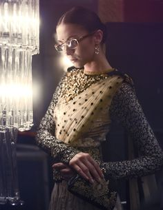 \  Editorial from L'Officielle India , featuring saree by Sabayaschi Mukherjee