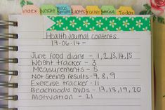 A blog about spreading the joys in life: My Health And Fitness Journal Set-up 2014