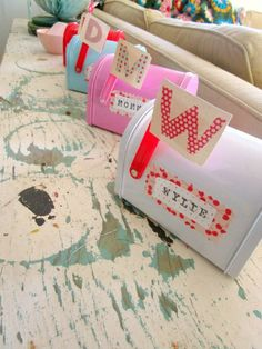 Valentine's mail boxes for families. Start a new tradition of sending sweet love notes to each other.