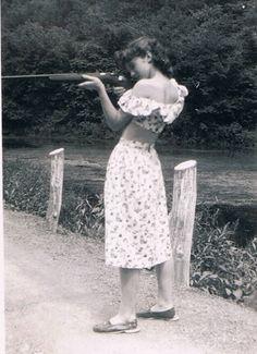 woman with gun.