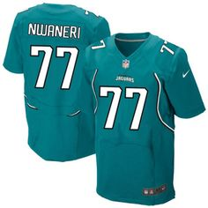 Men's Nike Jacksonville Jaguars #77 Uche Nwaneri Elite Teal Green Team Color NFL Jersey Sale