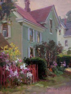 "Ken DeWaard, ""The Old Red Fence"" 16 x 12 Oil"