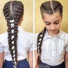 Косы  #Косы, #косыдлядевочек, #hair, #hairstyleforgirls, #braidsforgirls #schoolhairstyle #плетениекос #прическившколу #КОСЫВШКОЛУ #lovebraids #французскаякоса #ПРИЧЕСКИИЗКОС #косыслентами Braids For White Kids, Ponytail Hairstyles, Cute Hairstyles, Viking Hair, Natural Hair Styles, Long Hair Styles, Hair Skin Nails, Hair Dos, Hair Clips