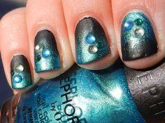 Matte Gradient with Rhinestones by Polish. Glitter. Rock & Roll!